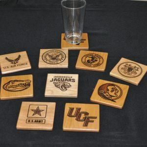 Laser-engraved Coasters